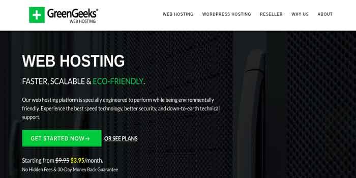 GreenGeeks WordPress Web Hosting