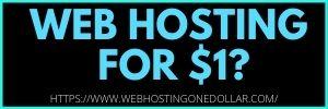 $1 webhosting